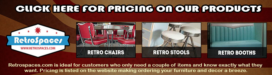 Retro Stools, Retro Booths, Retro Chairs, Retro Bars, Retro Tables, Metal Banding,