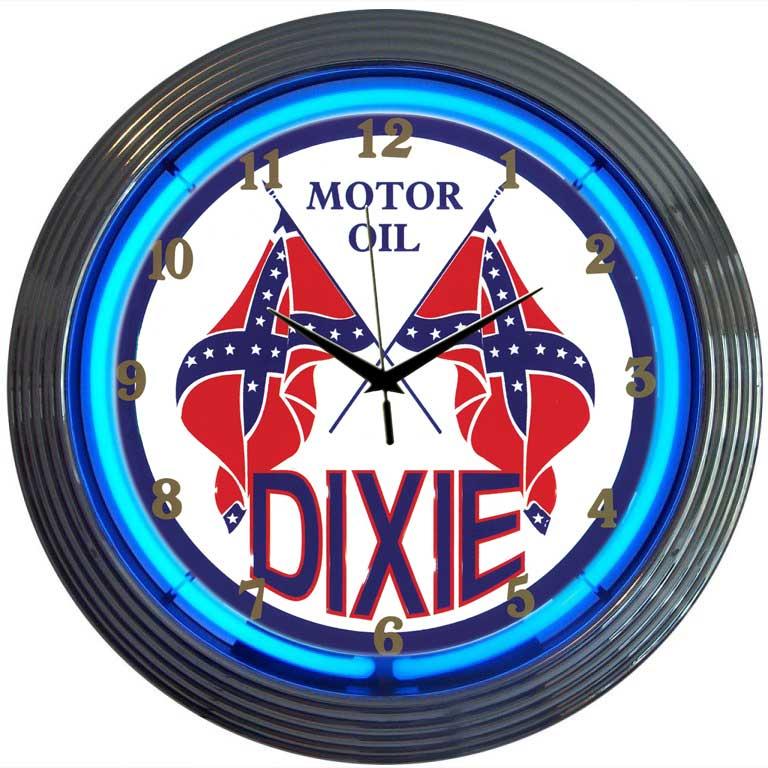 buy neon garage clocks
