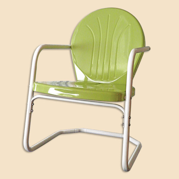 Retro Metal Chairs Lawn Chair Glider Double