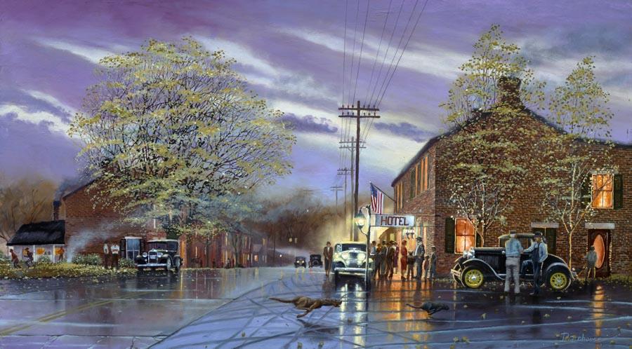 Dave Sinclair Lincoln >> Retro Murals, 1950's Murals, Vintage Wall Murals